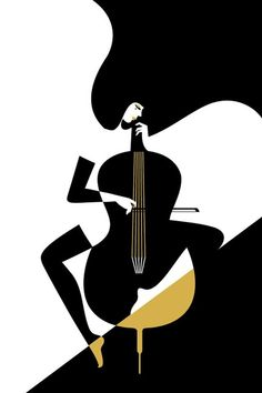 Jazz...black and white art combined with music, I'm liking this