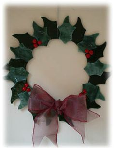 Fused glass wreath £30.00