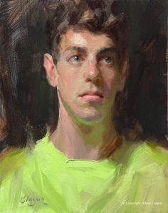 """Aaron"" by Adam Clague Oil • 8"" x 10"" • Private collection"