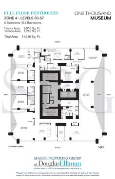 Click to View the Zone 4 Full-Floor Penthouse Floorplans