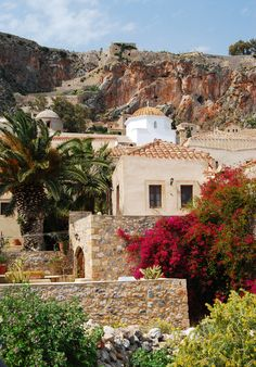 Monemvasia (Greek: Μονεμβασία) is a town and a municipality in Laconia, Greece. Mykonos, Santorini, Oh The Places You'll Go, Places To Travel, Places To Visit, Beautiful World, Beautiful Places, Greek Islands, Greece Travel