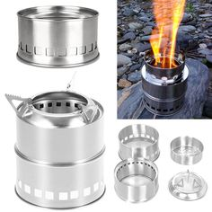 Beautiful Boruit Camping Wood Stove Portable Outdoor Folding Titanium Wood Stove Burning For Backpacking Survival Cooking Picnic Hunting Easy To Repair Campcookingsupplies Camping & Hiking