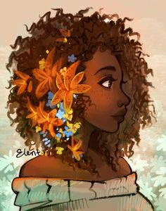 Tumblr | Facebook She's finished! : ) I had so much fun working on this, I'm going to start doing a bunch of girls of different ethnicity all with flowers in their hair, make a bit of a series.&nbs...