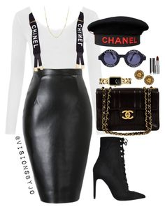 """MissCHANELed."" by visionsbyjo ❤ liked on Polyvore featuring Jeffrey Campbell, WearAll, Chanel, Givenchy and David Yurman"