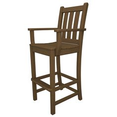 POLYWOOD Traditional Garden Outdoor Bar Arm Chair available at Vermont Woods Studios