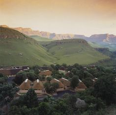 View of Giants Castle Midland Meander, Kwazulu Natal, Afrikaans, Lush Green, Homeland, Wild Flowers, Cry, South Africa, Scenery