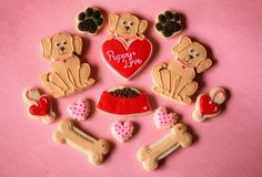 Valentines Day Puppy Love Cookies | Flickr - Photo Sharing!