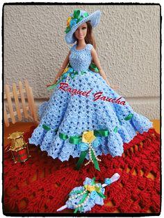 rachelcrochet.wordpress.com #Vestido #Dress #Cléa5 #Chapéu #Sombrero #Sombrilla #Sombrinha #Paragua #Crochet #RaquelGaucha