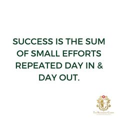 Success is the sum of small efforts repeated day in and day out. #motivation #fitness #gym #fit #love #workout #fitnessmotivation #training #inspiration #lifestyle #training #health #inspiration #motivationalquote #inspirationalquote #positivevibes #healthy #train #fitnessjourney #motivationalmonday #exercise #freedom #happy #weightloss #personaltrainer  #Regram via @richemontclinic Monday Motivation, Fitness Motivation, Motivational Quotes, Inspirational Quotes, Days Out, Personal Trainer, Positive Vibes, Instagram Feed, Repeat