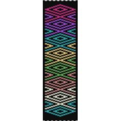 Rainbow Rhombus bracelet - 2 drop peyote - via @Craftsy