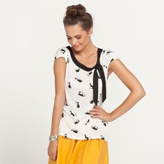 Frenchie Print Top from Dotti