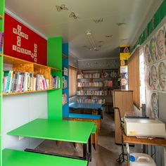 Topshell Containers in Gauteng converted several discarded shipping containers into a school. Facilities include container classrooms, male and female ablution and a library. #shippingcontainers #containerclassroom #containerschool #library #reading #education Shipping Container Conversions, Shipping Containers, Reading Room, Education, Female, School, Furniture, Home Decor, Decoration Home