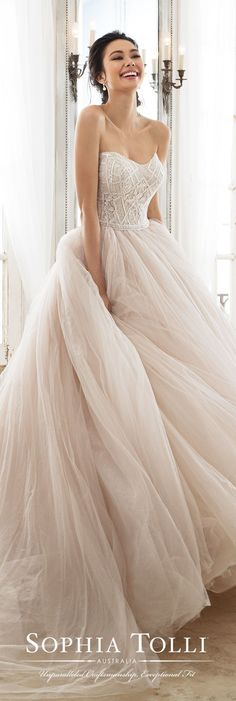 Wedding Dress by Sophia Tolli #weddingdress #bridalgown #weddings #weddingdresses #bride #bridal