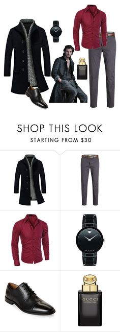 """""""Nothing like a well dressed man"""" by gigi-sessions ❤ liked on Polyvore featuring Movado, Florsheim, Gucci, men's fashion and menswear"""