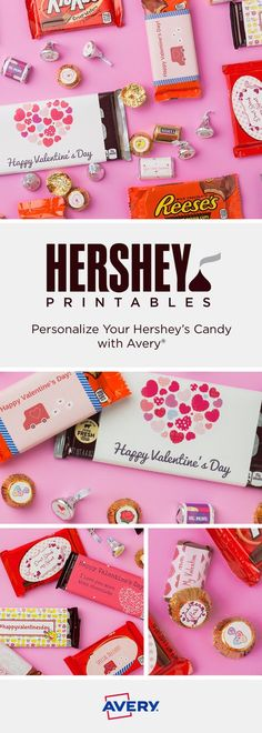 Valentines Day Candy Bar Wrappers-Co-Worker treats-Employee gifts ...