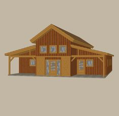 Pre-Designed Wood Barn Home, Great Plains Western Horse Barn Home 1,927 SQ. FT. by Sand Creek Post & Beam