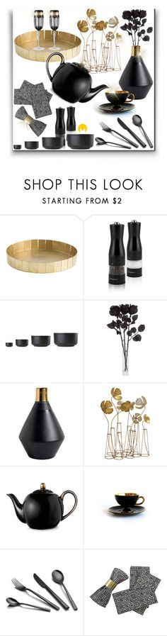 """""""Holidays Season Table Decor"""" by veganwithstylebyima ❤ liked on Polyvore featuring interior, interiors, interior design, home, home decor, interior decorating, Zone, Versace, holidays and decor"""