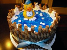 HAPPY EARLY BIRTHDAY!!! @Chelsea Ofsuryk - Rubber ducky cake!
