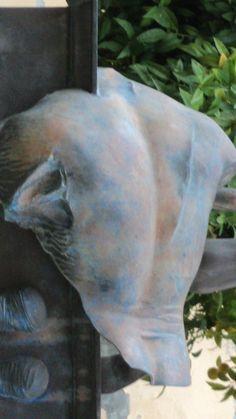 MITORAJ chez mon ami sculpteur de marbre Martin Foot à PIETRASANTA 2014 (TOSCANE)