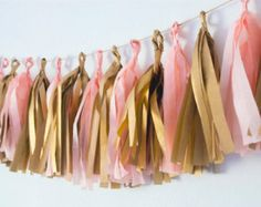 peach gold tassel garland - Google Search