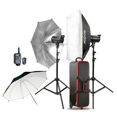 Godox 600WS 2*DS300 300 photography Strobe Flash softbox Light stand Trigger Kit #Godox