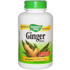 For travel sickness | Nature's Way, Ginger Root, 550 mg, 180 Capsules