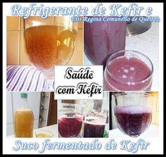 Segue abaixo duas receitas para kefir de água Refrigerante de kefir 1 litro de água 3 colheres de grãos de kefir de agua 3 colheres de...