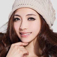 Autumn Winter Women Plaid Hats Wool Knitting Couples Earmuffs - Gchoic.com