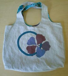 Morning Glory Emma Tote made from recycled and remnant fabrics. $40.00, via Etsy.