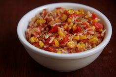 arroz com tomate e milho
