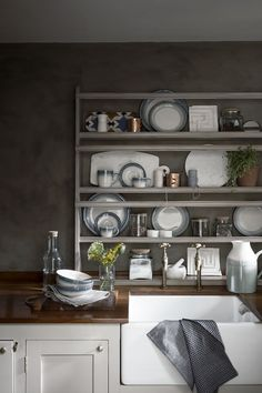 House of Fraser SS15 .. Narrow shelves in kitchen for plates and dishes you want to show off