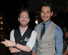 David Gandy & Ricky Wilson at the Oliver Spencer show during London Collections Men SS16 on June 13, 2015.
