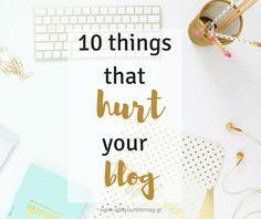 10 πράγματα που κάνουν ζημιά στο blog σου και πώς να τα διορθώσεις http://ift.tt/2f7y6hM  #edityourlifemag