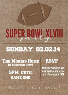 customizable & free Super Bowl Party Invitation. great super bowl idea! | www.MoritzFineBlogDesigns.com