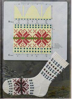 Verena Spezial In 80 Socken um die Welt - Teil 3 — Yandex. Crochet Socks, Knit Mittens, Crochet Scarves, Diy Crochet, Knitting Socks, Mitten Gloves, Knit Socks, Knitting Stiches, Knitting Charts