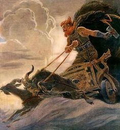 """WINTER STORM THOR: ABC News asks, """"What happens when weather people decide to name a winter storm after a Marvel character?"""" I ask, """"What happens when news networks hire reporters who think Stan Lee invented Thor? Norse Pagan, Old Norse, Norse Mythology, Viking Art, Viking Warrior, Viking Books, Norse Religion, Thor Norse, Les Runes"""