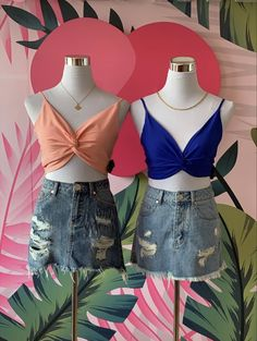 Crop Tops, Women, Fashion, Woman Dresses, Footwear, Blouses, Clothing, Moda, Fashion Styles