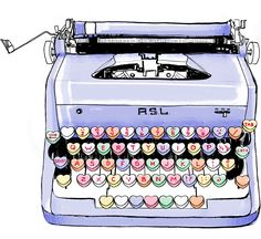Way too cute! We want a candy heart typewriter!