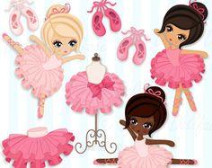 Ballerina Clipart, Tutu / Ballet Clip Art, Ballerina Party / Printable Clipart