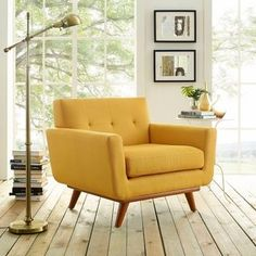 Shop Carson Carrington Sigtuna Wooden Leg Mid-century Armchair - On Sale - Overstock - 8768254 Tufted Accent Chair, Accent Chairs, Arm Chairs, Dining Chairs, Rattan Chairs, Eames Chairs, Office Chairs, Lounge Chairs, Furniture Deals