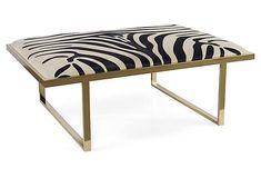 Kelly Brass Coffee Table, Zebra from Taylor Burke Home on OneKingsLane.com