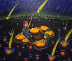 "『大漁』北原 千 ""Large Catch"" By Sen Kitahara, 油彩, art, oil"