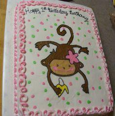 Monkey first birthday cute idea but bkue dor boy