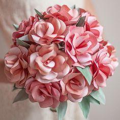 DIY Paper Rose Bouquet # MANUALIDAD ROSAS DE PAPEL RAMO DE NOVIA #FLORES #