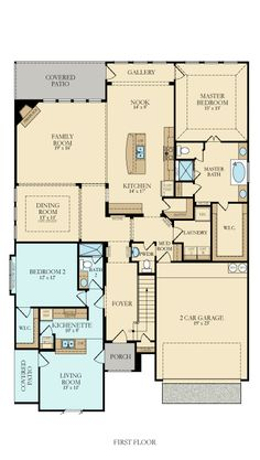 Dream home on pinterest floor plans house plans and for House plans with separate kitchen
