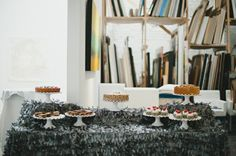 Modern Wedding Dessert Display - Full story found at: www.orangerieevents.com/blog & Photography by Julie Livingston Photography