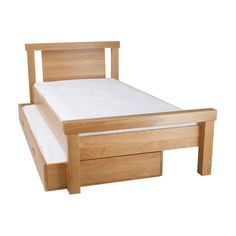 Beautiful yet strong and sturdy the Porterhouse children's single bed ticks all the boxes. Made from solid oak this lovely natural look bed is perfect from toddler to teen! Childrens Single Beds, Kids Single Beds, Minimal Bedroom Design, Best Bed Designs, Childrens Bedroom Furniture, Upholstered Beds, Cool Beds, Fur Smart, Lobbies