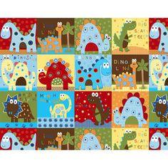 Fleece Prints Dino Patch Fabric