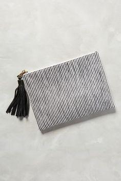 Lauren Merkin Albertine Pouch Black & White One Size Clutches #anthrofave