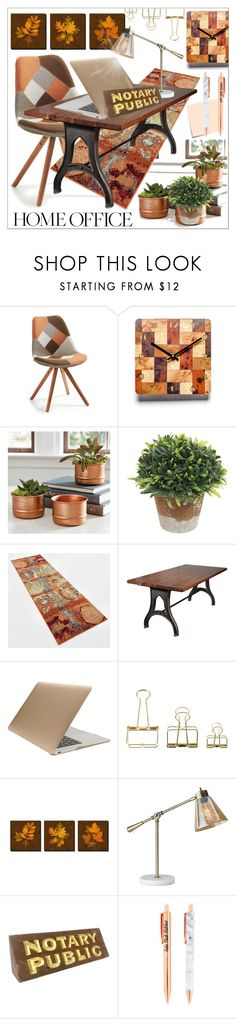 """""""Hard Work * Home Office"""" by calamity-jane-always ❤ liked on Polyvore featuring interior, interiors, interior design, home, home decor, interior decorating, Ballard Designs, Tucano, HAY and Adesso"""